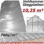 10,25 m² Plaque de polycarbonate creux / Plaques à double paroi, 4mm d'épaisseur de la marque Deuba image 2 produit