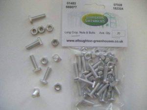 20 long recadrées haute résistance à effet de serre Nuts & Bolts pièces d'origine Elite Serres de la marque Elloughton Greenhouses image 0 produit