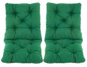 Ambientehome Lot de 2 Coussins pour Fauteuil de Jardin HANKO Vert 98 x 50 x 8 cm 90358 de la marque Ambientehome image 0 produit