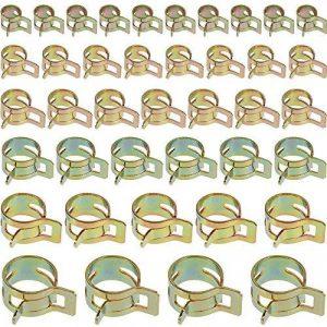 Anpro 60PCS Clip à Ressort Tuyau Serre-joints à Tuyaux Colliers de Clip à Ressort Tuyau Serrage Ajustable 6 Sortes de Tailles Pour Fixer Tuyaux Souples et Durites de la marque Anpro image 0 produit