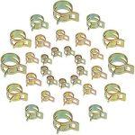 Anpro 60PCS Clip à Ressort Tuyau Serre-joints à Tuyaux Colliers de Clip à Ressort Tuyau Serrage Ajustable 6 Sortes de Tailles Pour Fixer Tuyaux Souples et Durites de la marque Anpro image 1 produit