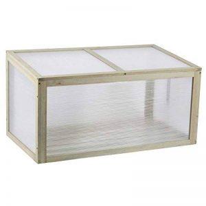 Bakaji Mini serre en bois Jardinière culture Plante d'intérieur 90x 50x 46cm ourlée en casa de la marque Bakaji image 0 produit