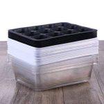 BESTOMZ Paquet de 10 graines Sprout Tray Plateau de germination Plateaux de démarrage des semis Plateau de culture des plantes Cultivateur de blé sain (12 cavités) de la marque BESTOMZ image 4 produit