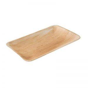 BIOZOYG Haute qualité d'assiette en Feuille de Palmier kaufdichgrün I 25 pièces d'assiettes Rectangle du Feuille Palmier 25 x 15 cm I Bio jetable Vaisselle fête Rapidement décomposable de la marque BIOZOYG image 0 produit