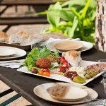 BIOZOYG Haute qualité d'assiette en Feuille de Palmier kaufdichgrün I 25 pièces d'assiettes Ronds du Feuille Palmier Ø15 cm I Bio jetable Vaisselle fête Rapidement décomposable de la marque BIOZOYG image 3 produit