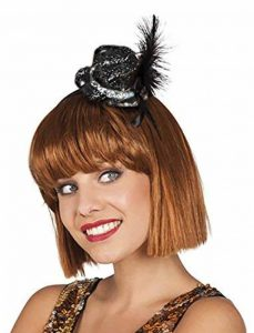 Boland Mini-chapeau à paillettes noir, rouge, rose argent de la marque Boland image 0 produit