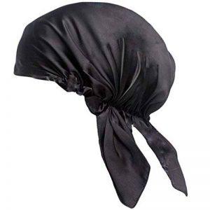 Bonnet de Nuit en 100% Soie Chapeau Bonnet De Sommeil 19 Momme Femme Bonnet Coiffure Soin protege cheveux rose profond de la marque Emmet image 0 produit