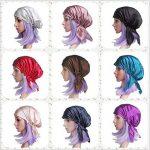 Bonnet de Nuit en 100% Soie Chapeau Bonnet De Sommeil 19 Momme Femme Bonnet Coiffure Soin protege cheveux rose profond de la marque Emmet image 3 produit