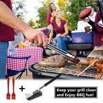 Brosse à barbecue, Fixget 3 en 1 Nettoyeur à brosse à barbecue 18 po Garder à distance de sécurité Acier inoxydable 360°Nettoyer avec grattoir Grattoir de nettoyage pour barbecue Parfait pour tous les types de barbecue Grill Nettoyage facile et efficace, image 4 produit