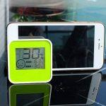 CCOWAY Affichage LCD Moniteur de température et d'humidité intérieur / extérieur avec alarme, horloge, calendrier -Min / Max Records pour la maison, voitures, bureau, serre (DC205-G) de la marque CCOWAY image 2 produit