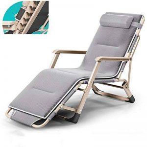 Chaise longue pliante, chaises de jardin portables, chaise de bureau Siesta, chaises de plage d'été, chaises longues, tapis amovible (taille : B) de la marque Fauteuil image 0 produit