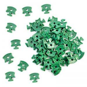 Clips de serre en plastiques, clips de fixation pour filet d'isolation de serre en aluminium, 100pièces de la marque KINGLAKE image 0 produit