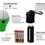 Coideal LED tente Lights 4 Pack portable Camping lampe lanterne tente ampoule pour l'ouragan d'urgence randonnée pédestre Outdoor & Indoor, batterie alimentée pour panne de courant de la marque Coideal image 1 produit