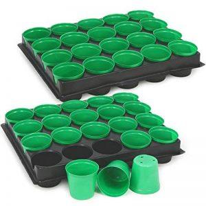 COM-FOUR® 40x pots de semences avec des pots de plantes pour la culture des plantes, boîte de plantes pour 40 plantes, 30,5 x 25,5 x 5,8 cm (40 pièces - pots de graines) de la marque com-four image 0 produit
