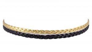 CRAZYCHIC - Lot de 2 bandeaux élastiques en forme de tresse - Doré de la marque CRAZYCHIC image 0 produit
