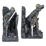 Design Toscano Serre-livre chevalier arthurien métal à deux tons (jeu de 2) de la marque Design Toscano image 1 produit