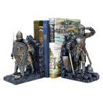 Design Toscano Serre-livre chevalier arthurien métal à deux tons (jeu de 2) de la marque Design Toscano image 3 produit