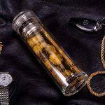 Deslon - Bouteille en verre double paroi Infuseur à thé anti-fuite Mug de voyage pour homme 350 ml, 360ml (12 oz) de la marque DESLON image 4 produit