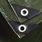 DGF Toile de bâche de protection solaire imperméable à l'eau épaissie extérieure de bâche, appropriée aux tentes de bâche, bateaux, RV ou couvertures de piscine, épaisseur 0.35mm, 180g / m2, (vert) variété de tailles disponibles de la marque Great St. image 2 produit