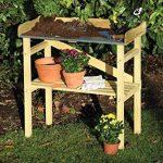 dobar 29052FSC table de plantation robuste FCS imprégné de pin FSC, 40 x 86 x 80 cm de la marque dobar image 3 produit