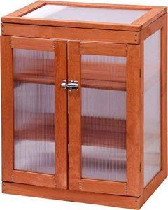 dobar mini-serre en verre acrylique, balcon et serre intérieur, bois, marron, 58x43x76 cm, 29167FSC de la marque dobar image 0 produit