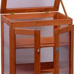 dobar mini-serre en verre acrylique, balcon et serre intérieur, bois, marron, 58x43x76 cm, 29167FSC de la marque dobar image 1 produit