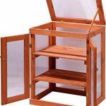 dobar mini-serre en verre acrylique, balcon et serre intérieur, bois, marron, 58x43x76 cm, 29167FSC de la marque dobar image 2 produit