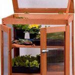 dobar mini-serre en verre acrylique, balcon et serre intérieur, bois, marron, 58x43x76 cm, 29167FSC de la marque dobar image 3 produit
