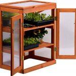 dobar mini-serre en verre acrylique, balcon et serre intérieur, bois, marron, 58x43x76 cm, 29167FSC de la marque dobar image 4 produit
