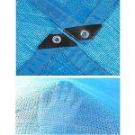 DUO Voiles d'ombrage 85% tissu d'ombre de Sunblock avec des oeillets pour le patio de jardin (Couleur : Blue, taille : 3x4m) de la marque Voiles d'ombrage image 2 produit