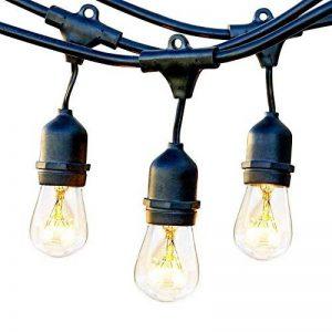 ECOWHO Guirlande Lumineuse Extérieure avec 9 Douilles E27 Base Étanche LED Guirlande pour Fête, Mariage, Noël, Jardin (pas d'ampoule) de la marque ECOWHO image 0 produit