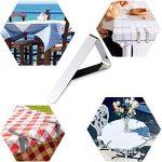 Fanuk Nappe Lot de 30Attaches d'extérieur en acier inoxydable Table de pique-nique Chiffon support Colliers de serrage (Argent) de la marque Fanuk image 2 produit