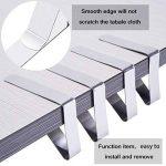 Fanuk Nappe Lot de 30Attaches d'extérieur en acier inoxydable Table de pique-nique Chiffon support Colliers de serrage (Argent) de la marque Fanuk image 3 produit
