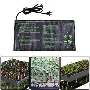 fastar semis Tapis chauffant, 18W IP67étanche hydroponique semis Plante Tapis chaud hydroponique avec coussin chauffant pour intérieur ou extérieur semis germination, 25,4x 52,7cm de la marque fastar image 0 produit