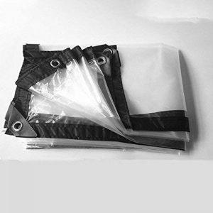 FEI Bâches Clair Transparent Épais Étanche Tissu En Plastique Tissu Fenêtre Coupe-Vent Tissu Floral Pluie Tissu Culture Serre Film couverture professionnelle  bâche (taille : 2×4m) de la marque Pengbu image 0 produit