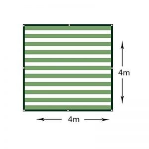 Filet Résistant Aux UV De Tissu D'ombre De Sunblock pour Le Panneau De Filet D'ombre pour La Serre Végétale, Bâche Résistante De Maille,4M*4M de la marque Rziioo image 0 produit
