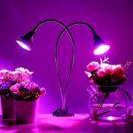 Finether Lampe de Plante Lampe de Croissance Lampe Horticole à Double Tête 18W 80LED avec Cou de Cygne Flexible 360 ° LED Grow Light IP66 Etanche pour Plantes, Fleurs, et Légumes Intérieur de la marque Finether image 4 produit