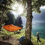 Flying Tent Hamac étanche avec moustiquaire, pour 1personne, tente suspendue, colonne d'eau de 5000mm, avec sac de transport, pour la randonnée, les festivals, les voyages, 3saisons de la marque image 3 produit