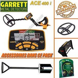 Garrett - Détecteur De Métaux Ace 400 i avec 3 Accessoires Inclus (casque audio, protège disque, protège pluie boîtier)+ Pelle Bigfoot de la marque Garrett image 0 produit