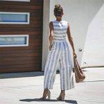 HCFKJ Combinaison Femme Combinaison Femme Chic Pour SoiréE Combinaison Femme Ete Pantalon RayéE Sans Manches Casual Clubwear Pantalon à Jambes Larges Outfit de la marque HCFKJ image 4 produit
