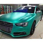 Hoho extensible en chrome satiné mat Vert foncé en vinyle de voiture film 152,4x 50,8cm de la marque HOHO image 2 produit