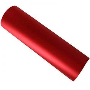 Hoho Mat chromé satiné stretch Rouge film de vinyle de voiture Wrap sans bulles d'air 152,4x 50,8cm de la marque HOHO image 0 produit