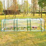 Homcom Serre de jardin tunnel tente bâche 3L x 1l x 0,8H m tube en acier transparent neuf 76 de la marque Homcom image 1 produit