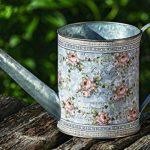 Home Collection Meubles, décoration - arrosoir pour fleurs et plantes - motif: floral - style: shabby chic, rustique - couleur: gris - matière: zinc - 35 cm de la marque Home Collection image 1 produit