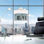 Horloge numérique Thermomètre Hydromètre LCD Auto-Adhésif avec Ventouse Horloge Fenêtre Mur Intérieur Extérieur Jardin Salle de bains Serre de la marque Fdit image 3 produit