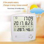 HUABEI LCD Digital Thermomètre Hygrometre Interieur, Thermo-hygromètre Électronique, Thermomètre Hygrometre Numérique sans Fil, Thermomètre Chambre Bébé, Portable Taille Blanc de la marque HUABEI image 1 produit