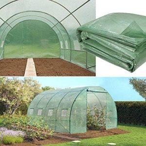 IDMarket Serre de jardin tunnel 12 m² verte 3x4 m de la marque IDMarket image 0 produit