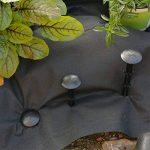 iLP piquets - 100 pitons ultra forts - ancrage pour une récolte sûre - fixation de filet anti-mauvaises herbes taupes films bâches - plastique noir - pour champ serre de la marque iLP image 3 produit