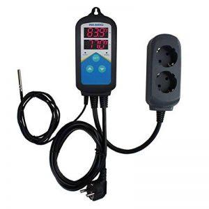 Inkbird 2 Relais 100-240V Digital Thermostat Chauffage pour Serre Joints, Terrarium Plante,Pompe de Brassage,Incubateur Reptile,Régulateur de Température Jour et Nuit + 2m NTC Sonde de la marque Inkbird image 0 produit