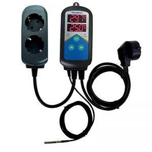 Inkbird ITC-306T Digital Double Relais Température du Contrôleur, pour Chauffage Piscine/Barbecue Electrique, avec 2 Prise de Chauffage,24 Heures de Contrôle Temps Thermostat de la marque image 0 produit